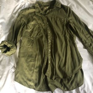 Forrest/ olive green Merona button up